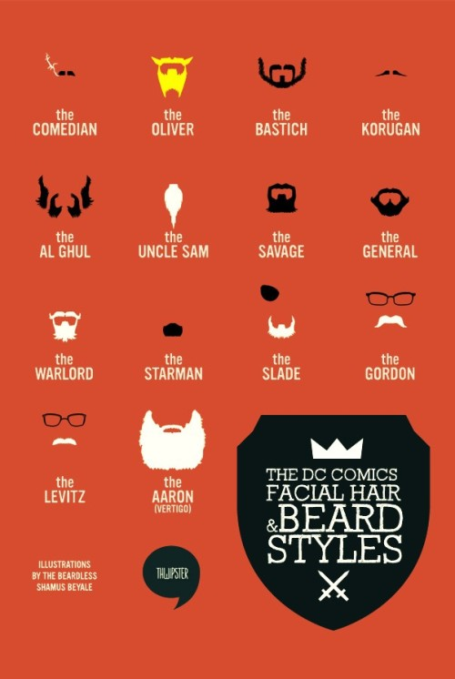 The DC Comics Facial Hair & Beard Styles