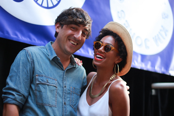 Ed & Solange Knowles at Opening Ceremony Block Party