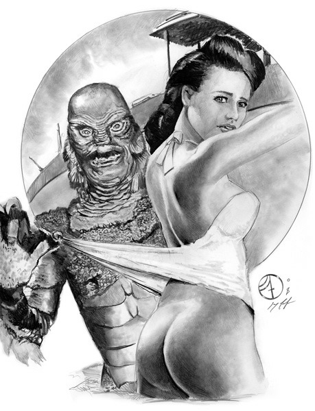 (via Creature from the Black Lagoon-2008, in Jay Fife's Nudity or Adult content Comic Art Gallery Room)