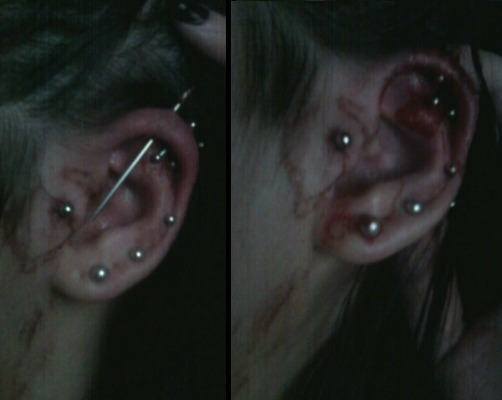 proverbialpleasure:  Here I was piercing my own cartlidge…