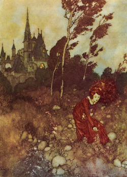 Illustration hans christian andersen fairy tale my scan Edmund Dulac the wind's tale