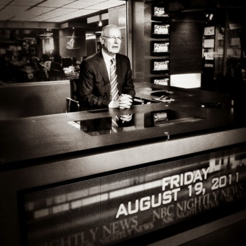 Harry Smith preparing to anchor @nbcnightlynews. #nbcnews (Taken with instagram)