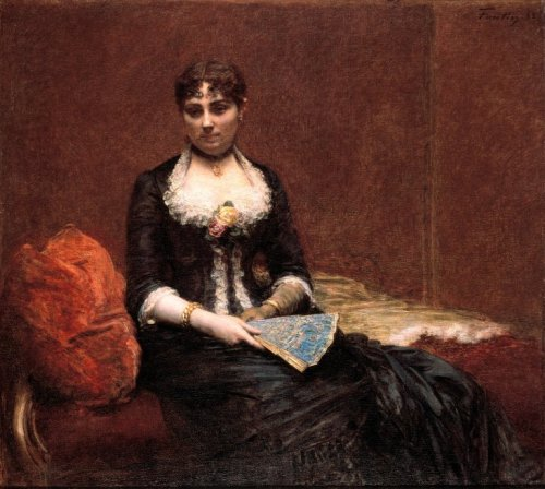 Portrait of Madame Léon Maître by Henri Fantin-Latour, ca 1882 France, Brooklyn Museum