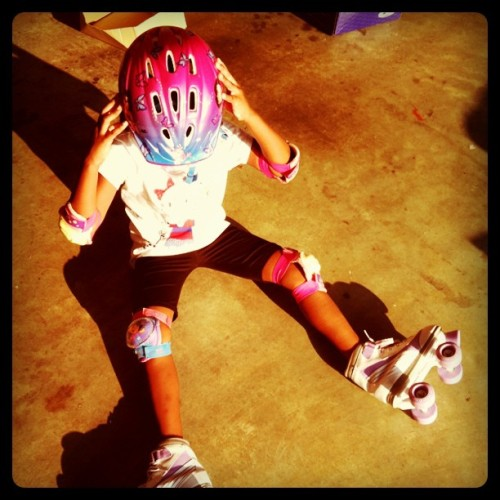 1st time on skates! #goodtimes (Taken with instagram)