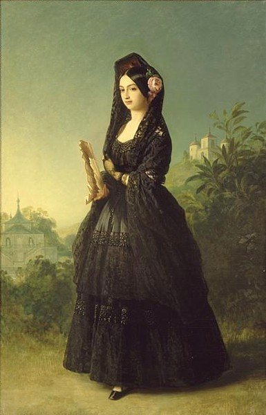 Portrait of Infanta Luisa Fernanda of Spain by Franz Xaver Winterhalter, ca 1847