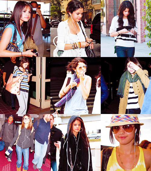 "✖  - Selena must haves: her ipod""We're walking through airports and Selena will just put in her headphones and I'm like 'why do you have your headphones on?' and she's like 'because they're going to talk to me and they're going to say mean things and I don't want hear it."" - Selena's cousin"