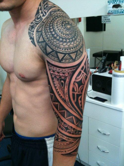 Polynesian sleeve 2 polynesian tribal sleeve