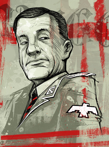 """Col. Hans Landa"" by Melissa Dow A clever oppurtunist of the most vile kind; from the film 'Inglourious Basterds.'"