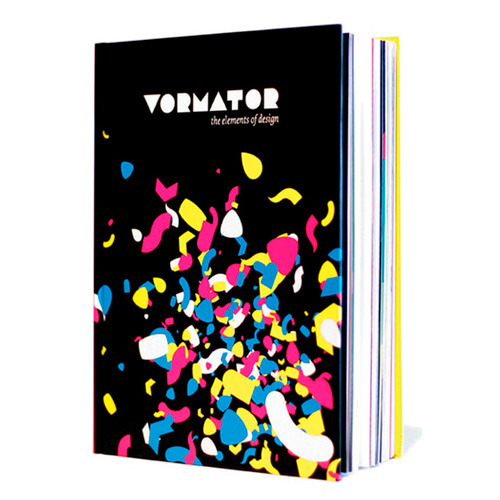 "Our work has been published here: "" Vormator: The Elements of Design is a new concept-book published by Zeptonn & Booreiland. 80 designers were asked to create artworks using the same 8 simple shapes. No other elements were allowed, and the results are really amazing. The book is a hardcover 192-pages of designs and commentary from each participant. My ""Great Design Does Both"" is pictured above, a witty attempt at showing how design can ""look good"" and ""get the message across"""