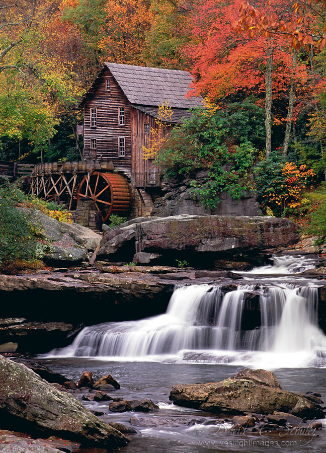 wolfsong:  Old Grist Mill by David Schultz
