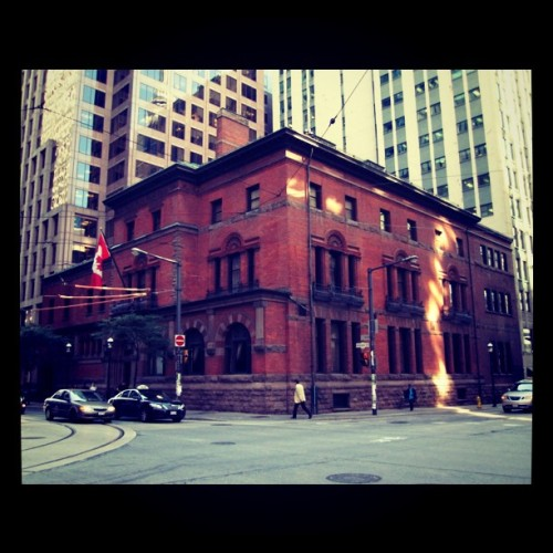 #toronto #vintage #downtown #Wellington #street #building #red #brick (Taken with instagram)