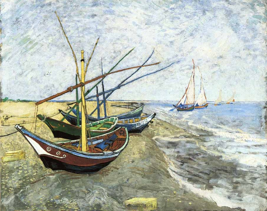 Vincent Van Gogh, Fishing Boats on the Beach at Les Saintes-Maries-de-la-Mer, 1888