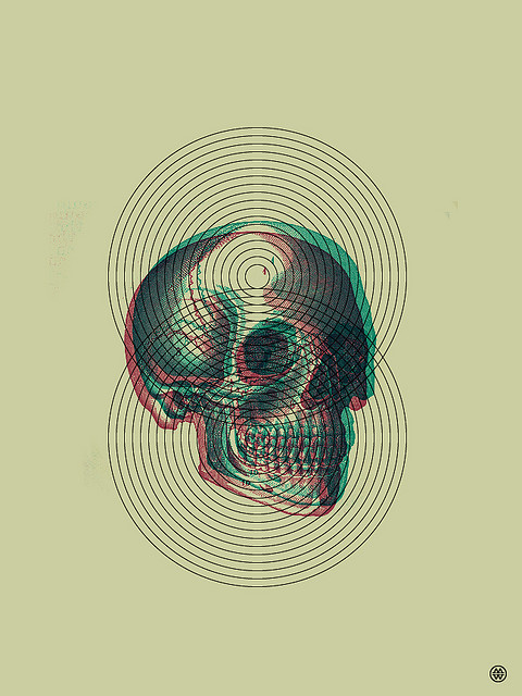pastthestart:  Skull & Circles by Mark.Weaver on Flickr.