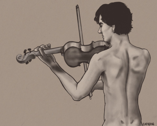 I did not know how much I wanted naked violin playing until exactly this moment. capaow:   Malissa: Naked violin playing.  Yes ma'am. Your will is my command.