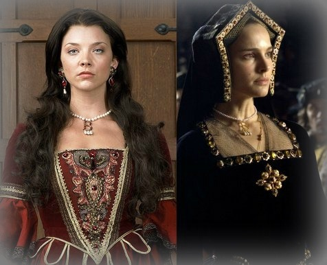peacocktreschic:  Natalie Vs. Natalie as Anne Boleyn Every generation has an Anne Boleyn, Natalie Dormer and Natalie Portman are mine. I love both The Tudors and Justin Chadwick's The Other Boleyn Girl. As fantastic as Natalie Portman is, I'm kinda partial to Natalie Dormer, who plays Anne in The Tudors. Regardless, they're both gorgeous and I think they both portray the historical seductress masterfully.