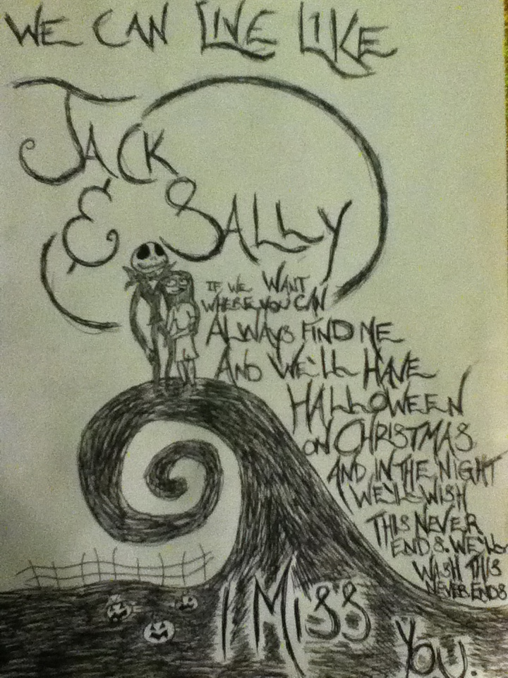 Jack & Sally: Nightmare Before Christmas - Blink-182, I Miss You.