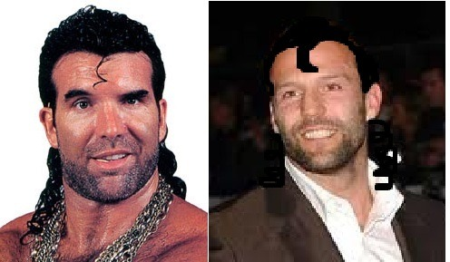 A friend of mine refused to see the similarity between Razor Ramon and Jason Statham so I used my mad photo-shopping skills to make it a bit more obvious that these two are twins separated at birth, or perhaps even the same person in some sort of strange Benjamin Button-esque de-aging thing. I shall name him Razor Jason Ramon Statham.