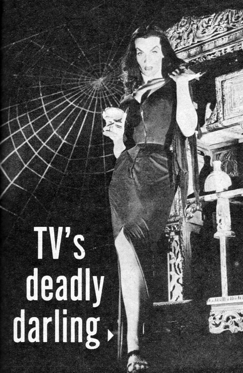cryptofwrestling:  Vampira - TV's Deadly Darling.