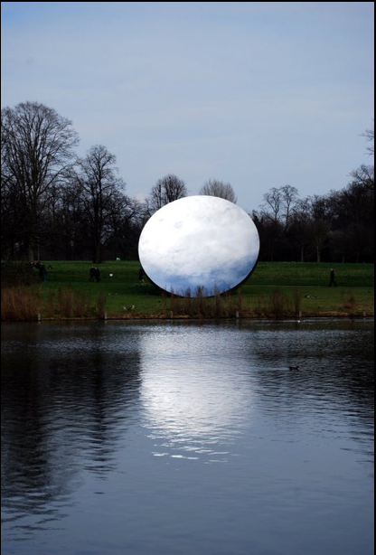 "arthistoryx:  Anish Kapoor in Kensington Gardens ""Sky Mirror"" The title is self explanatory, loved this. photo by moi I miss Hyde Park, I was happy there."