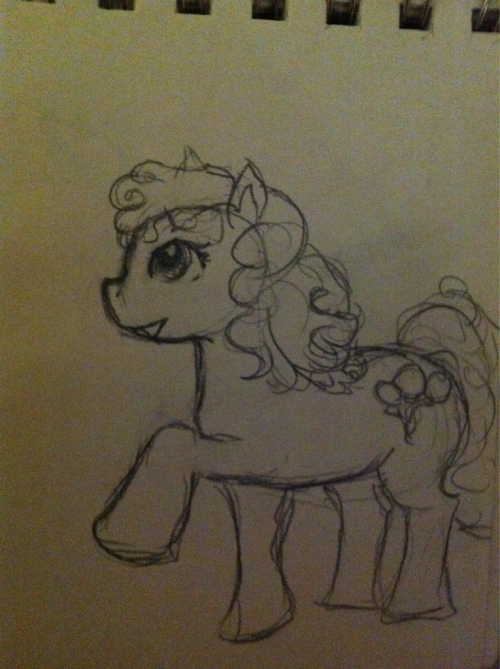 Oh no what it's Friday again? Uhhhh here I drew Pinkie Pie from memory at a play a while ago.   Sorry, I'm packing, no time to drawwwww~