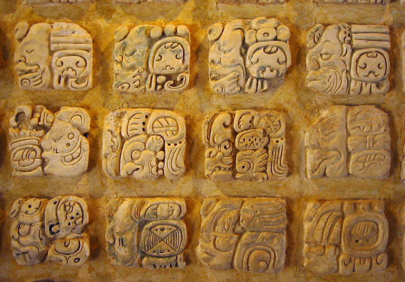 "science:  Maya glyphs seen in Palenque, present day Mexico. The Maya writing system is the only  Mesoamerican writing system that has been deciphered. It's a complex system composed both of logograms (symbols representing words or morphemes) and syllabograms (symbols representing syllables). It was usually written in columns and read in pairs of two letters, left to right, top to bottom. The key to deciphering Maya writing was found in the writings of the 16th century Spanish bishop Diego de Landa, who is infamous for his cruelty to the Maya and his large-scale destruction of their culture and customs. Despite his fervent attempts to convert the Maya to European, Christian ways, he compiled a small ""alphabet"" of the Maya script. It was based on the false assumption that there was a more or less one-to-one correspondence between sounds and letters, like in the Latin alphabet. Nevertheless, Landa's alphabet has been important in the modern effort to figure out the way the Maya writing really works. It's an interesting historic fact that writing developed independently at least two times in history (possibly more), in Mesopotamia in Asia's Fertile Crescent and later in Mesoamerica."