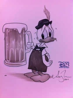 Yes, I got to draw a duck wearing pants. #D23Expo