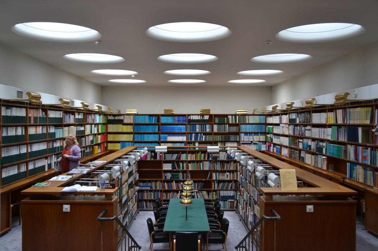 Library at Social Insurance Institution Helsinki, Finland