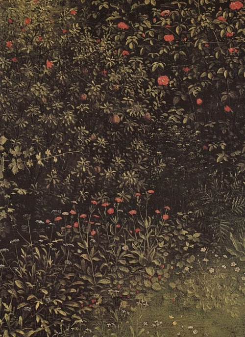 unaselvaoscura:  Jan Van Eyck, Flowering Shrubs and Plants
