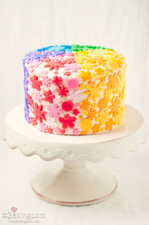 (via Rainbow Heart Layer Cake - Bakingdom)
