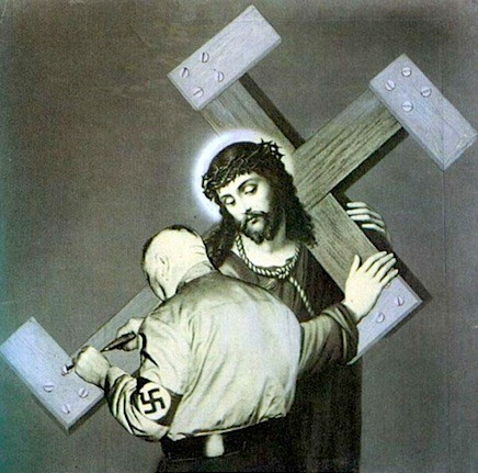 "John Heartfield ""The Cross was not Heavy Enough"", 1934"