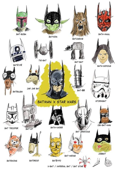 trinklied:  Batman x Star Wars by Lucas Lago  BAT ALL THE THINGS !