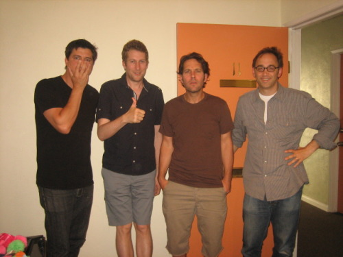 -saturdaynightlive:  Ken Marino, Scott Aukerman, Paul Rudd + David Wain.   Wanna marry Ken Marino. To the max.