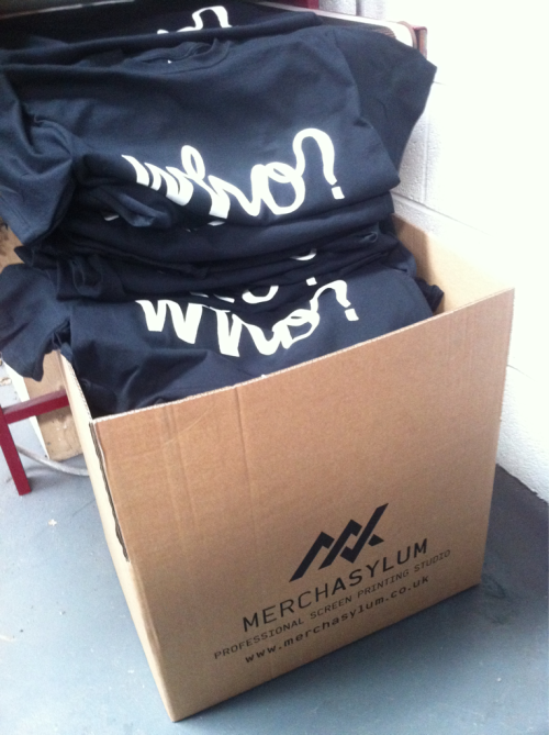 Logo Tees & a few others have been re-stocked over at www.whostore.com Printed by our hommies @Merch Asylum.