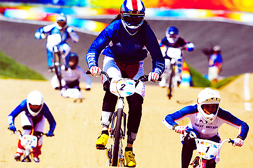 The year's new olympic sport, BMX cycling, drew big ratings and garnered more excitement. In the women's competition, Anne-Caroline Chausson of France took the gold.