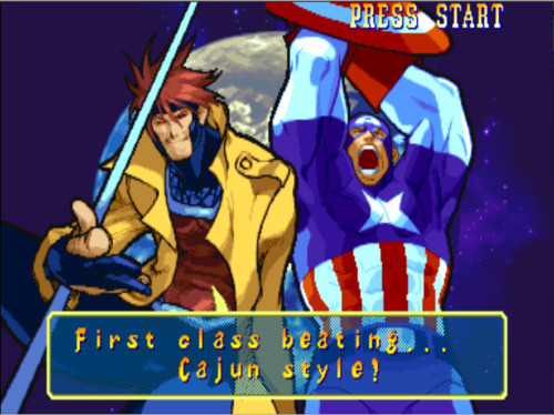 bison2winquote:  - Gambit, Marvel vs Capcom 1: Clash of Heroes (Capcom)