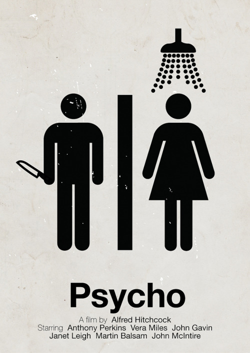 weandthecolor:  Psycho  Pictogram movie poster by Victor Hertz.  More poster design inspiration.  posted byW.A.T.C. // Facebook // Twitter // Google+