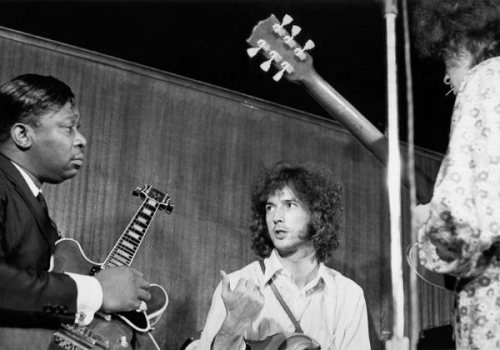 simplybek:  B.B. King, Eric Clapton and Elvin Bishop, NYC 1967