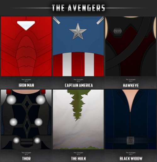 herochan:  Avengers Uniform Poster Set - by Brenton Powell Tumblr || deviantART