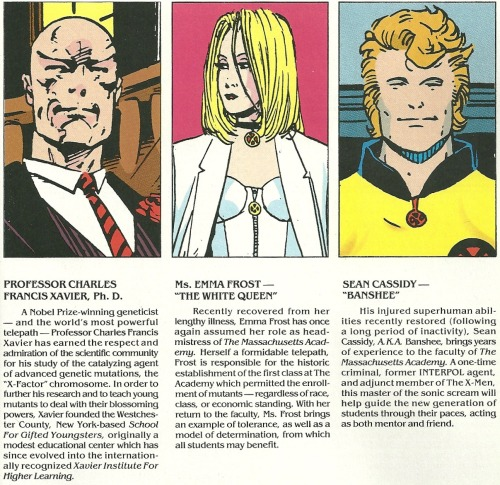 nerdynerdynerd:  From the Generation X TPB - Faculty Profiles