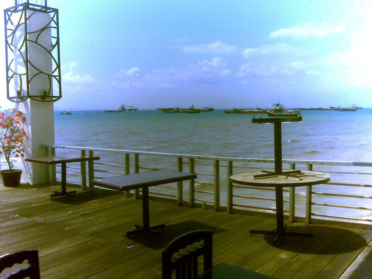 view from harbor bay restaurant - Batam