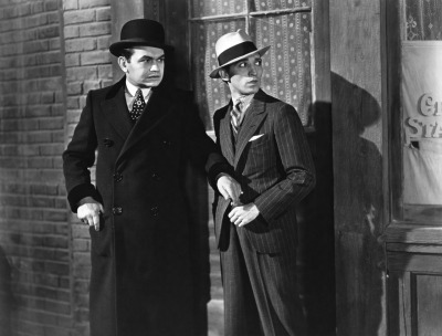 fuckyeahmobfilms:  Edward G. Robinson and George E. Stone in Little Caesar.