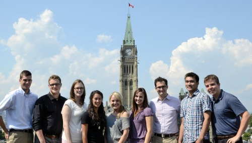 The youth element of Parliamentary Precinct Branch- Canada's future engineers, architects, historians and urban planners.