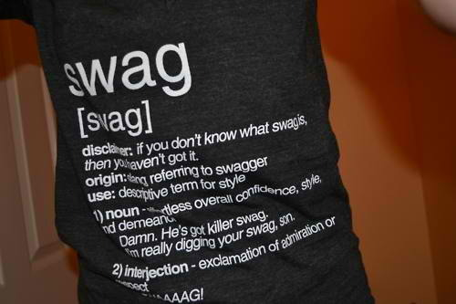 Wearing shirts that define #swag is #negswag