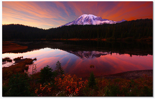 rod42:  Rainier Sunset Eruption (take 2) (by Don Jensen)
