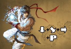 hayleyquinnn:  Press those buttons and Ryu will blow your opponent to bits with Kamehameha's little brother, the Hadouken. Hadouken, by Drake Tsui.