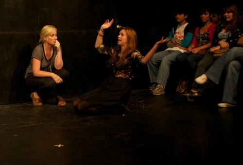 poupak:  evanwatkins:  nicclee:  Amy Poehler and Amber Tamblyn perform at UCB Theater in Los Angeles.  The show is called Gravid Water, Tamblyn has been given the script of an existing play and has to stick to her character's written lines verbatim, while Poehler has no knowledge of the written play and has to improvise her half of the scene. WTF! Come over here!! Grrr. I guess I have to make it a point to see Gravid Water in LA some day. *grumbles* *sighes*  Gravid Water does play NYC, here's details for the next show: http://newyork.ucbtheatre.com/shows/view/656  Yes it des - and it's always, ALWAYS a great show!!  When does this show get posted in NYC so I can actually get tix?