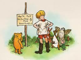 horoscopely:  Happy birthday Christopher Robin! (Had he still been alive he would have been 91 today.)  and Pooh's just turned 90!