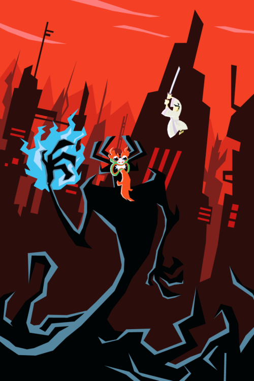 "pastasoup:  Samurai Jack A friend of mine wanted me to do a Samurai Jack poster so I said ""Why not?"" and made one.  It was a great show with superb animation/design."
