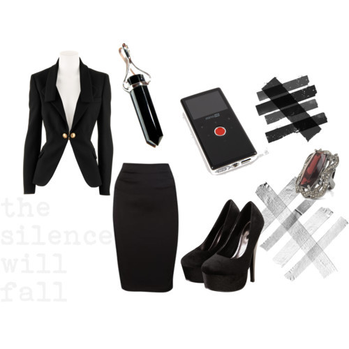 the silence will fall by alizarahaman featuring a black blazer