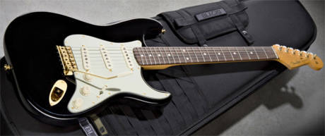"Soon you will be mine!  John Mayer ""Black 1""   Body Material: Alder Neck: Maple Neck Finish: Satin Urethane Finish on Back of Neck, Gloss Finish on the Face of the Headstock Fretboard: Rosewood Fretboard Radius: 9.5"" Radius (241 mm) Frets: 21, Dunlop 6105 Narrow Jumbo Position Inlays: White Dot Position Inlays Scale Length: 25.5"" (648 mm) Nut Width: 1.650"" (42 mm) String Nut: Synthetic Bone Truss Rod Nut: Original Vintage Style Pickups: Big Dipper Single-Coil Strat Pickup, Big Dipper Single-Coil Strat Middle Pickup, Big Dipper Single-Coil Strat Neck Pickup Pickup Switching: 5-Position Blade: Position 1. Bridge Pickup, Position 2. Bridge and Middle Pickup, Position 3. Middle Pickup, Position 4. Middle and Neck Pickup, Position 5. Neck Pickup Controls: Master Volume, Tone 1. (Neck Pickup), Tone 2. (Bridge/MiddlePickup) Hardware: Gold Tuning Keys: Gold Schaller Die-Cast Tuners with Pearloid Buttons Bridge: American Vintage Synchronized Tremolo Tremolo Arm: Aged White Yummy :)"